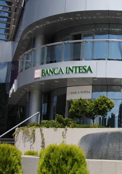 Banca Intesa, 20,000 m², Technical maintenance & cleaning, 3 Head offices, 95 branches